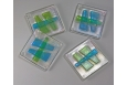 Haiku Coaster Set; Clear/Aqua/Lime