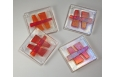 Haiku Coaster Set; Clear/Red/Orange