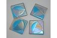 Trident Coaster Set; Aqua/Steel Blue/Grey