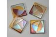 Trident Coaster Set; Gold/Sienna/Grey