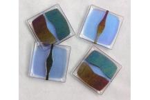 Bento Coaster Set; Blue/Sienna